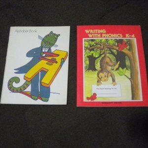 Vintage Set of 2 70's ABC & Phonics Workbooks